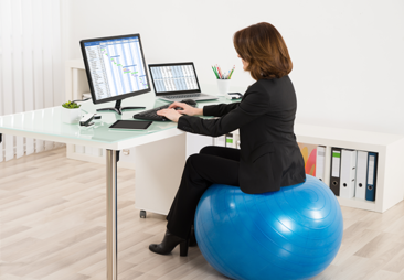 Do you sit on a wellness ball at work? Maybe you shouldn't.