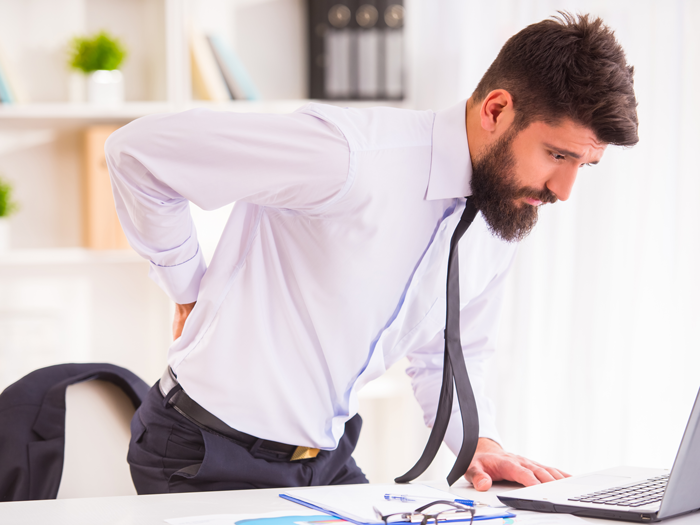 Relentless back pain associated with sick leave?