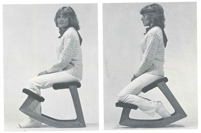 The concept of kneeling chairs and how they work