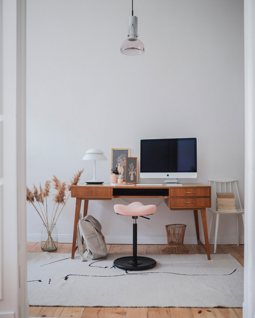 Move by desk in home office setting